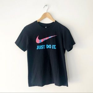 Nike Neon Swoosh Logo Graphic Tee